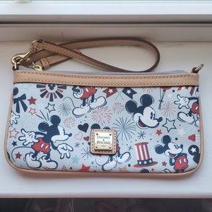 Disney Dooney and Bourke Americana Wristlet